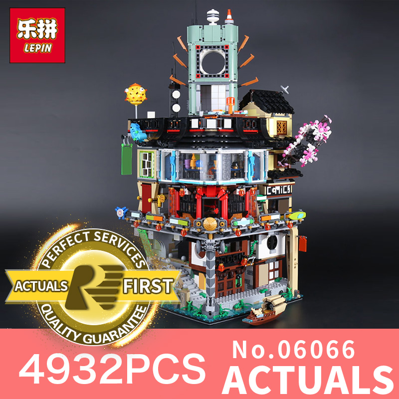 Stocked Lepin 06066 4932pcs Creative City Model Educational Building Blocks Bricks Kids Toys as Christmas Gift LegoINGlys 70620 lepin 42010 590pcs creative series brick box legoingly sets building nano blocks diy bricks educational toys for kids gift