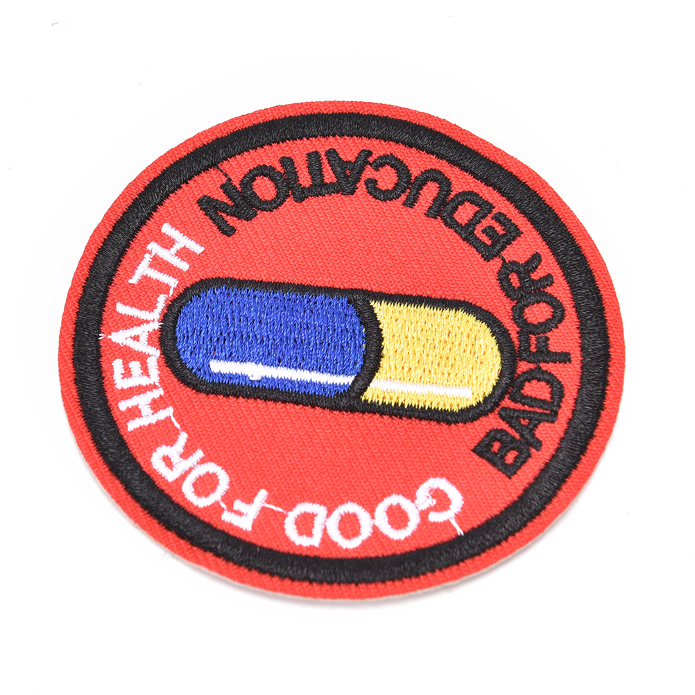 Collectibles Science Fiction Horror Akira Anime Good For Health Bad For Education Pill Round Logo Patch 2 1 2 Inches Collectibles Zsco Iq
