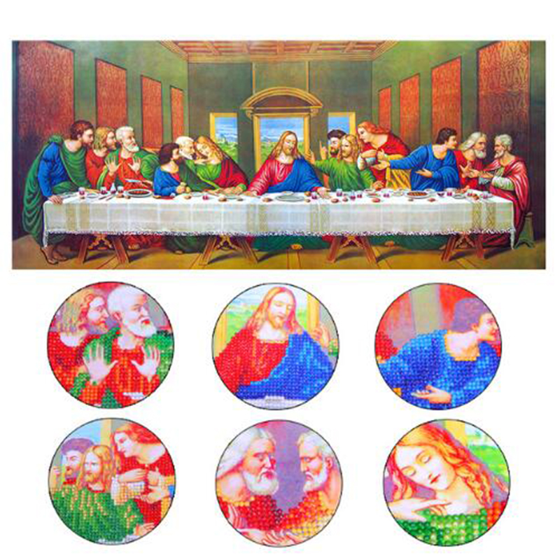 Special Shaped,The Last Supper,5D DIY Diamond Embroidery,Pasted,3D Diamond painting,Diamond mosaic,Rhinestone,decoration