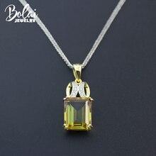 Bolai Zultanite Colar Pingente Genuine 925 Sterling Silver Cor Mudando Diásporo Sultanit Gemstone Fine Jewelry Para Mulheres