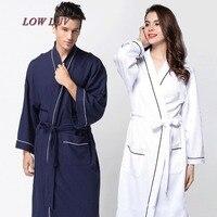 Waffle Cotton Bathrobes 100% cotton waffle bath robes/Silk Women Bathrobe Pajamas robe woman cloak sexy