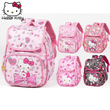 Hello Kitty Bag Cute Cartoon hellokitty Fashion Baby KT Pink Shoulder PU Waterproof Girl Schoolbag Plush Backpack