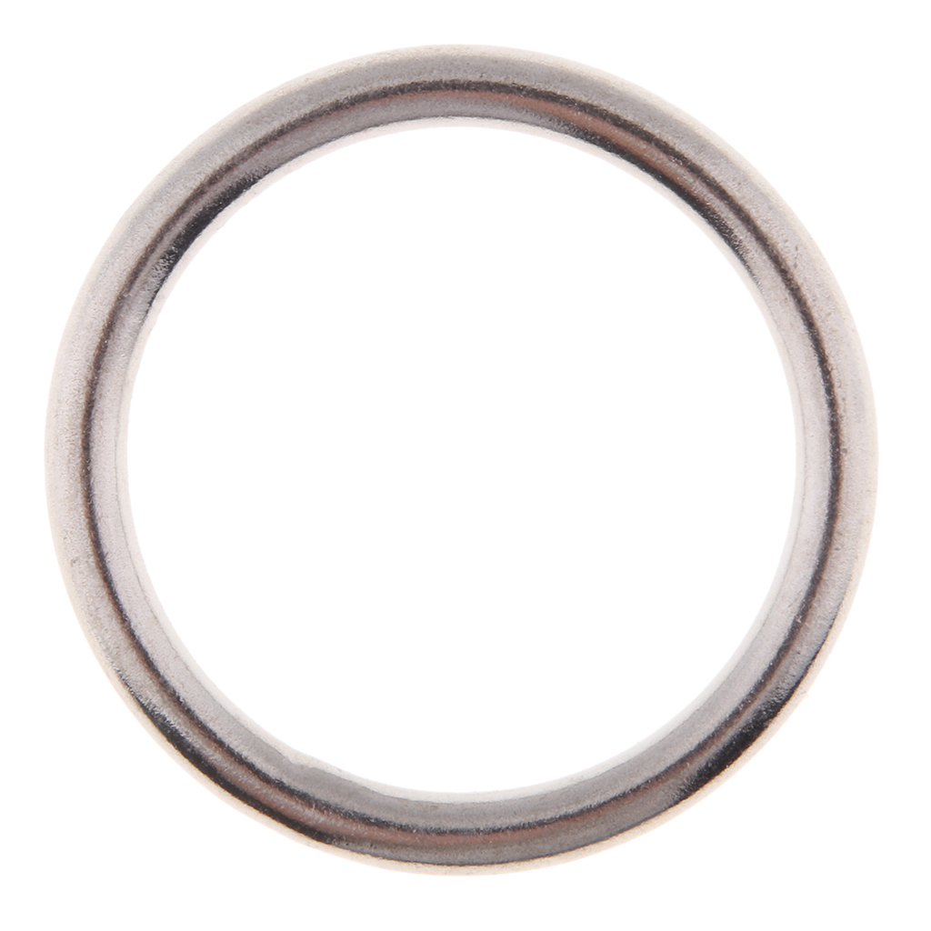 Marine Polished Seamless Welded 316 Stainless Steel Round O Rings Multiple Sizes For Kayak Canoe Boat Dinghy Yacht