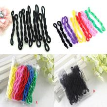 200Pcs/lot Women Girls Candy Color Cute Elastic Rope Circle Rubberbands Party Ponytail Holder Hair Rope Headwear(China)
