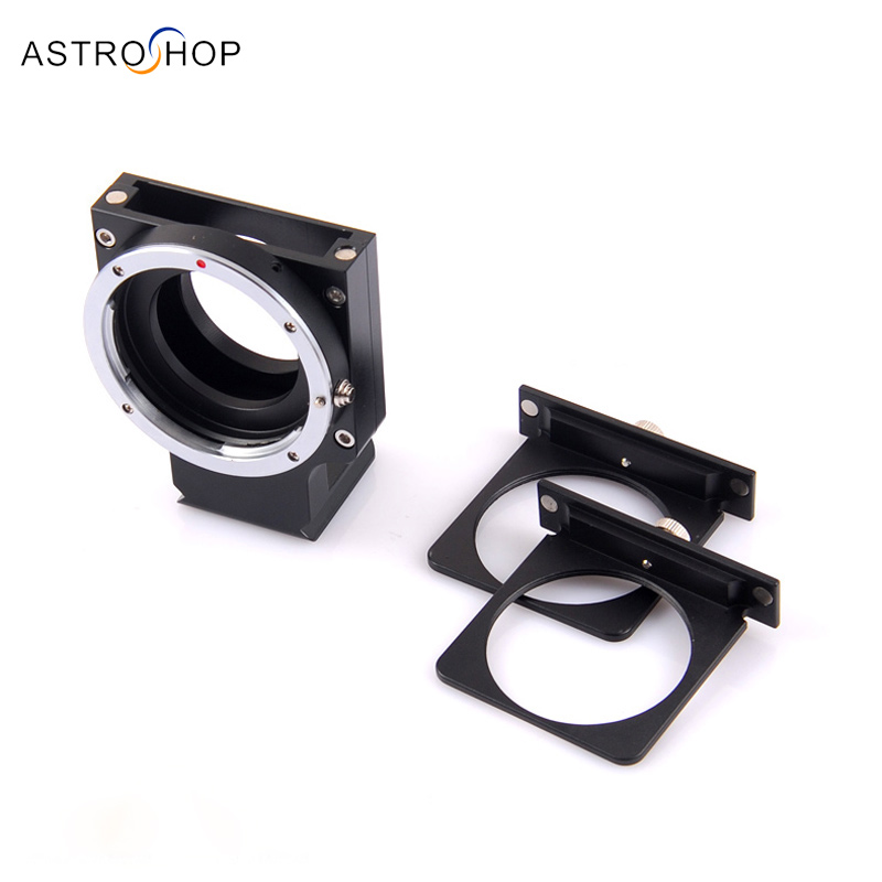 Astronomical camera filter drawer for Canon Nikon lens to QHY163M C ZWO071 etc