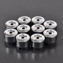 цена на DWCX 7L6 601 173A 2ZZ 10pcs Chrome Wheel Lug Bolt Nut Cap Cover 7L6601173A for VW Touareg 2004 - 2010 2011 2012 2013 2014