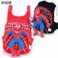 Marca de moda para Niños Bebé Niño Niña de Dibujos Animados Spiderman de Peluche de Juguete Bolso Del Morral Del Niño