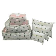 XYLOBHDG New  High Quality Oxford Cloth 6PCS/Set Travel Organizer bag Multi-pattern Luggage Packing Cube Clothing arrange bags