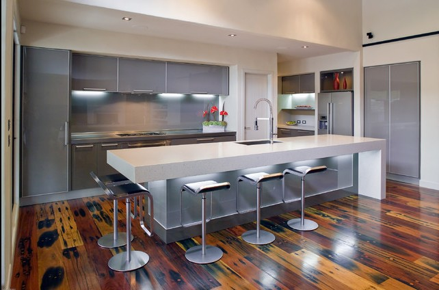 2017 Modern Design High Gloss White Lacquer Kitchen Cabinets