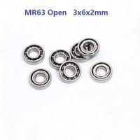 50pcs/100pcs/500pcs MR63 Open Type Miniature 3*6*2mm Deep Groove Ball Bearing 3x6x2mm