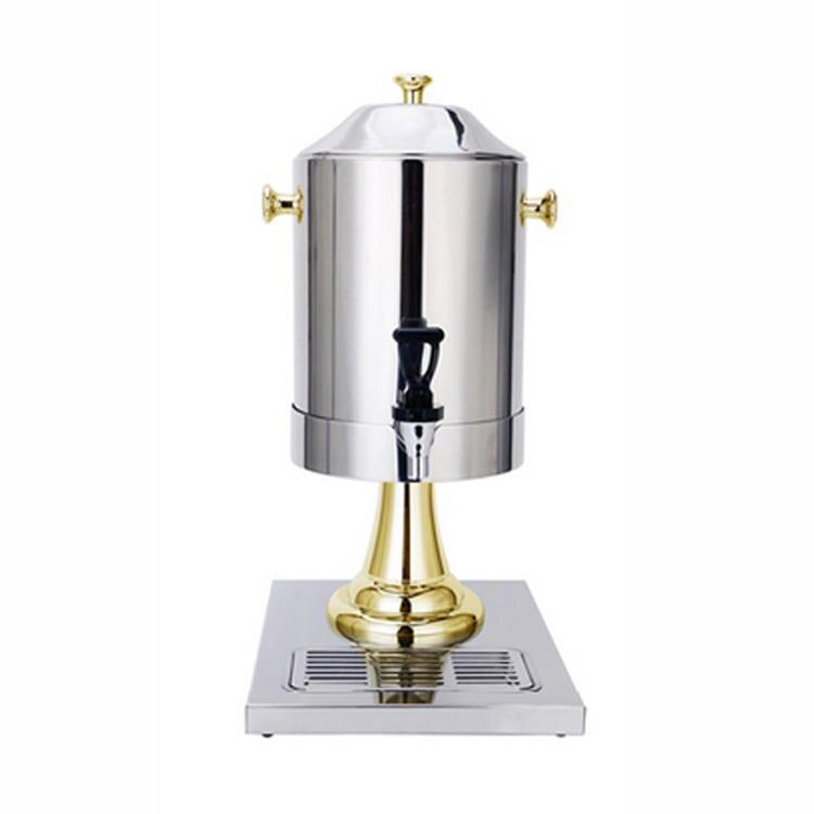 Récipient à café avec robinet en acier Inoxydable café/thé/boisson/lait/dipenser avec robinet buffet hôtel restaurant service 8L