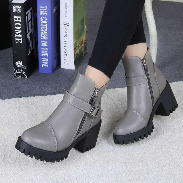 High Heels Ankle Boots Women Fashion Ladies Pumps Sexy Shoes Woman Size 35-39 5