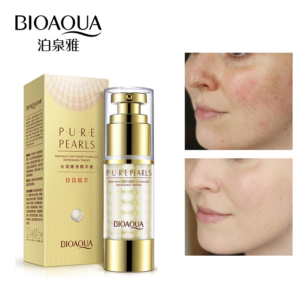 BIOAQUA Pure Pearl Collagen Hyaluronic Acid Face Skin Care Moisturizing Hydrating Anti Wrinkle Anti Aging Essence 35ml bioaqua pure pearl collagen hyaluronic acid face skin care essence moisturizing hydrating anti wrinkle anti aging facial cream