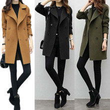 2019 Winter Clothing Short Wool Coat Women Coat Korean Wool Coat Fashion Double Breasted Cardigan Jacket Elegant Blend HD88 epaulet design single breasted wool blend jacket