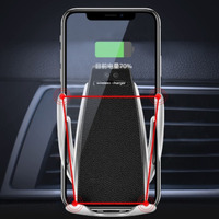 TOTU Induction Wireless Charge Car Phone Holder For iPhone 7 6 Samsung In Car Air Vent Clip Mount Mobile Phone Holder Cell Stand