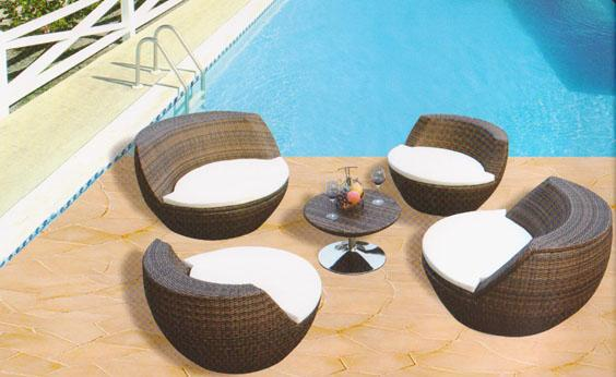 freeshipping PE rattan tea table covered The courtyard balcony sitting room tables and chairs Outdoor furniture