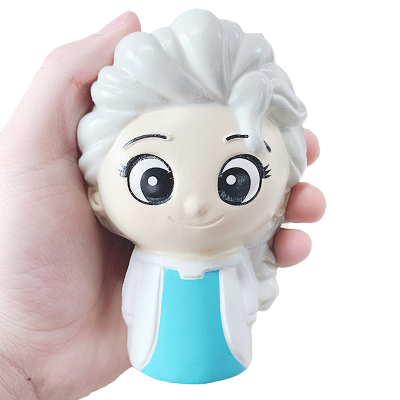 Jumbo Kawaii Snow Princess Squishy Slow Rising Cartoon Doll Sweet Scented Bread Soft Squeeze Toys Fun Xmas Gift Toy for Children in Squeeze Toys from Toys Hobbies