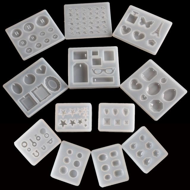 1 cái Mặt Dây Chuyền Thủ Công TỰ LÀM Trong Suốt Nhựa UV Silicone Lỏng Kết Hợp Khuôn cho DIY Làm Việc Tìm Kiếm Phụ Kiện
