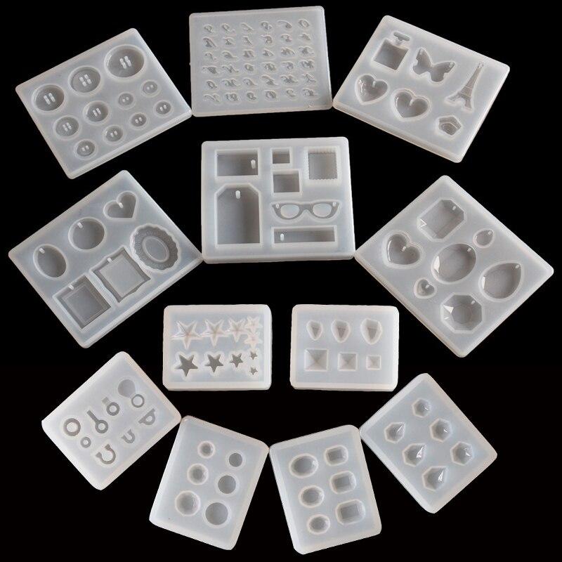1 pc pingente artesanato diy transparente resina uv silicone líquido combinação moldes para diy fazendo encontrar acessórios