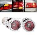 2 pcs 25W Amber 7057 BAU15s PY21W CREE XP-E Chips LED Proector Lens Turn Signal Lamp Bulb For Honda Huyndai Infiniti Kia Nissan