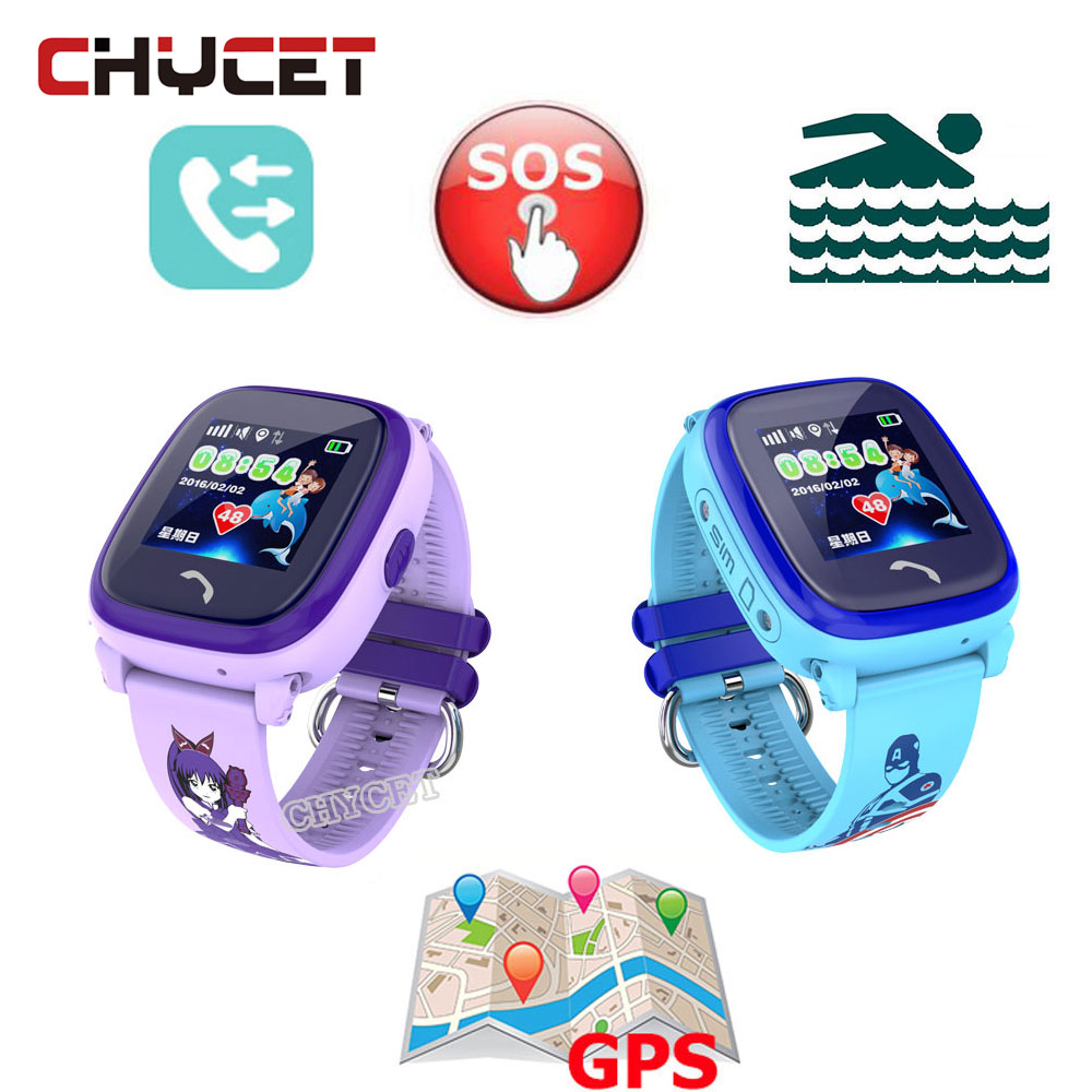 Waterproof DF25 Smart Watch Children GPS Swim touch phone SOS Call Location Device Tracker Kids Safe Anti-Lost Monitor Watch
