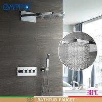 GAPPO смесители для душа настенные душевые наборы ванна кран дождевой Душ ванная набор система массажные душевые смесители