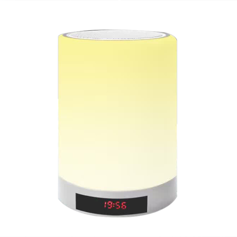 Wireless Hands-free Bluetooth Speaker Emotion LED Desk Built-in Smart Alarm Clock Lamp Anti-interference Speakers