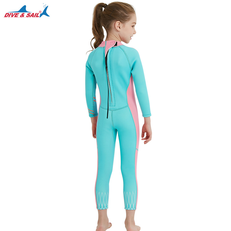 DIVE SAIL Girls Diving Wetsuit 2.5MM Kids Neoprene Keep Warm One piece Long  Sleeves UV protection Children Swimwear -in Wetsuit from Sports    Entertainment ... b98adab7c