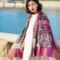 Marca de moda Outono Inverno Cashmere Pashmina Cachecol de Caxemira Grosso Quente Multi Cores Xale Mulheres Lenços Macios Frete Grátis