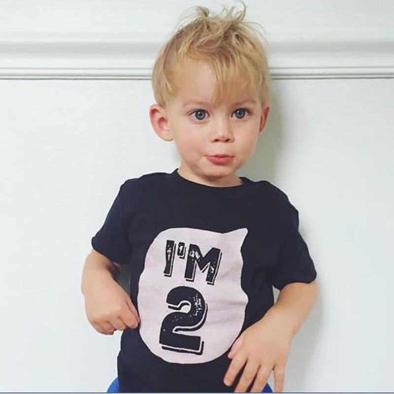 2017-0-6Y-Baby-Boys-Girls-T-shirt-Children-Letter-Birthday-Age-Printed-Black-White-Noir-Cotton-Blends-Summer-Shirts-Top-Tees-3
