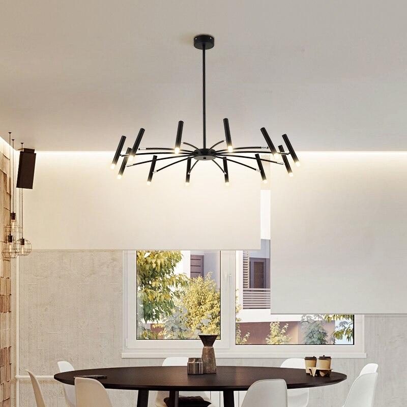Best Offer #07647 - Nordic Black/white Spider LED Chandelier ...
