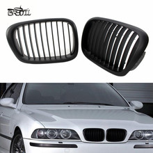 1 Pair Right Left Matte Black Front Kidney Grille Grill For E39 5 Series 525 1999-2003 M5