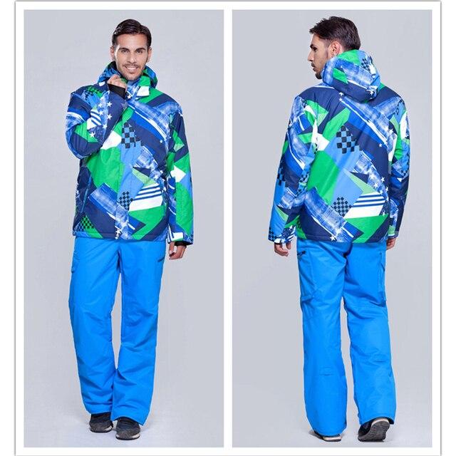Gsou snow Winter Snowboarding sets men s Windproof Waterproof Ski Jackets+Pants  Warm Breathable Set Sportswear free shipping 0be74194c