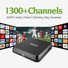 M8S Android Smart TV Box 2 г ram с HD QHDTV IPTV Арабский каналов Подписки 1 года Европа Франция Италия ВЕЛИКОБРИТАНИЯ iptv Set Top Box