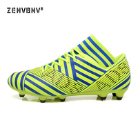Zenvbnv New Men's Outdoor Sports training Football Shoes Long Spikes Sneakers Long Nails Grass Profeesional Soccer Shoes Male