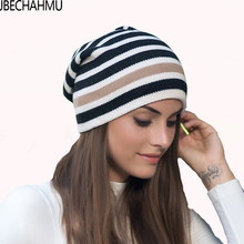 ZJBECHAHMU Hats New Spring Fashion Vingate Elegant Solid Cotton Skullies Beanies Hat For Women girl Winter Wool Gorras Caps