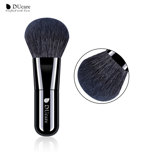DUcare polvo cepillo Kabuki cepillo cepillos de maquillaje de pelo de cabra cepillo de alta calidad cosméticos herramientas brochas maquillaje