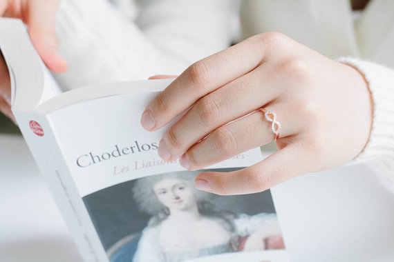 Hfarich קריסטל אינפיניטי טבעת הטובה ביותר חבר טבעות נצח קסם הטוב ביותר מתנת אהבה אינסופית סמל טבעת עבור נשים המפלגה Dropshipping