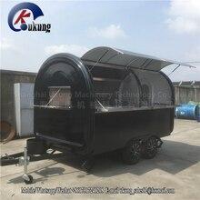 UKUNG Стандартный передвижной пищевой прицеп с рабочей скамейкой внутри, высокое качество передвижной пищевой караван