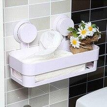 Plastic Bathroom Shelf Kitchen Storage Holder Kitchenware Toiletry Dish Rack with Sucker