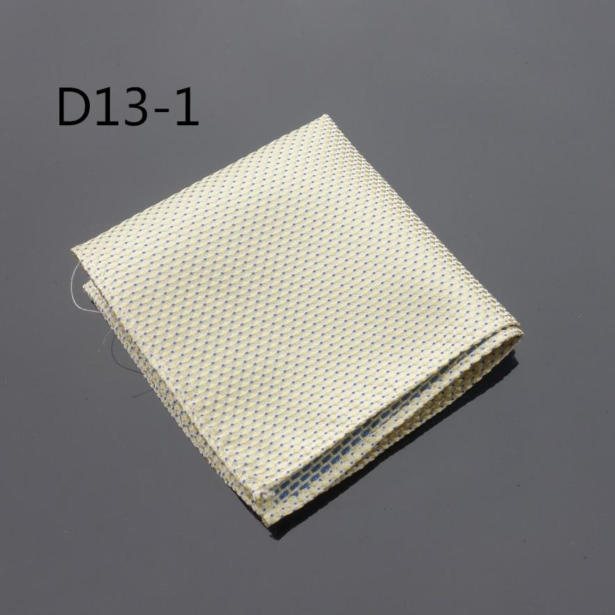 Ikepeibao Handkerchief Dots Yellow Hanky Men Tie Jacquard Woven Pocket Square