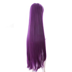 Image 4 - L email wig Game Fate Grand Order Lancer Scathach Cosplay Wigs Long Straight Heat Resistant Synthetic Hair Perucas Cosplay Wig