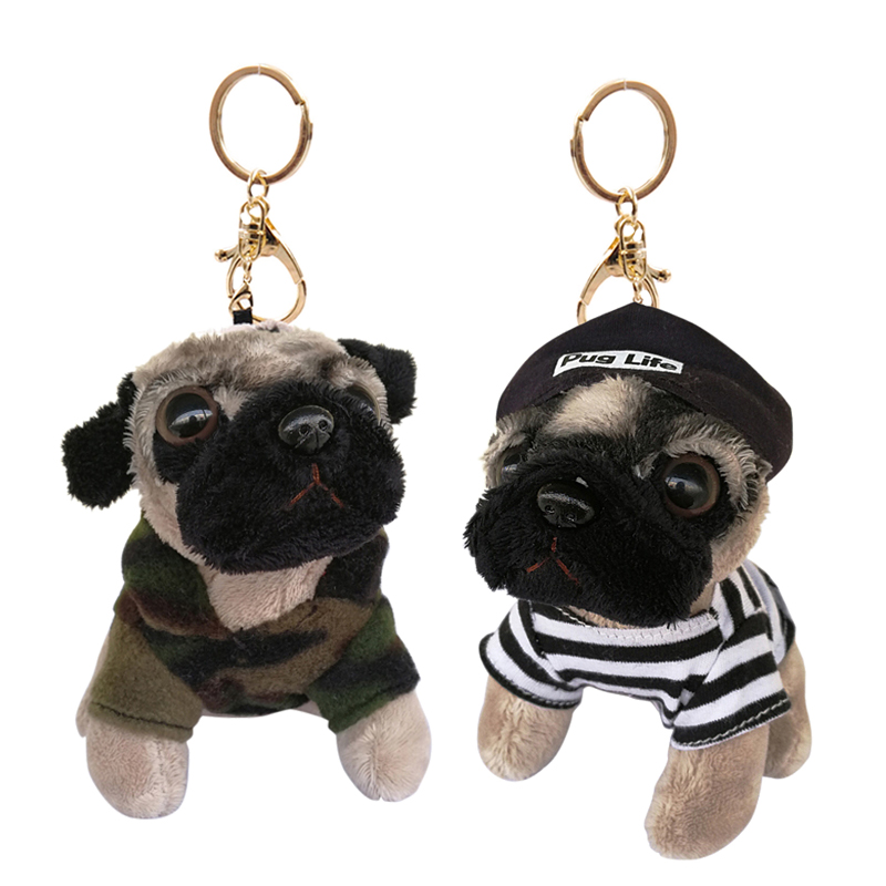 RYRY 13cm 5colors cute plush puppy bag pendant dolls kawaii dog keychains for friend gift toy