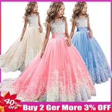 b1daffef00669 Robes de soirée de mariage de fille de fleur robes d enfants pour des filles  robe de princesse robe adolescente 4 6 8 10 11 12 1.