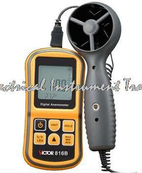 Fast arrival  VICTOR 816B Digital Anemometer, Air Wind speed Temperature measure Meter