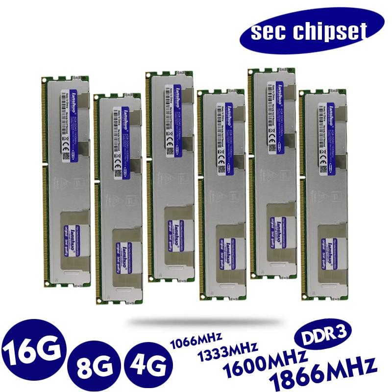Original 8 GB DDR3 1333 MHz 8g 1333 REG ECC radiador servidor RAM memoria trabajo 16 GB 24 GB 16G 24g 32 GB 32G garantía de por vida LGA 2011
