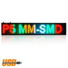 50 СМ RGB P5 SMD Светодиодная Вывеска Программируемый Прокрутки Сообщения СВЕТОДИОДНЫХ Табло Дисплея multi-languageTime обратного отсчета
