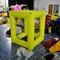 Горячие продажи надувной оранжевый квадрат мини деньги машина деньги стенда денежных куба с бесплатным воздуходувки надувные игры