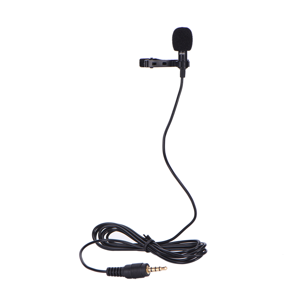 small resolution of clip on lavalier microphone 3 5mm jack mini wired condenser microphone mic yaka mikrofonu for smartphones laptop micro cravate in microphones from consumer
