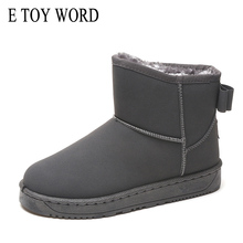 E TOY WORD Women Snow Boots Winter Shoes Flat heel Woman Footwear Cute Bowtie Ankle Boots Suede Fashion Warm Boots Size 34-40 цена 2017